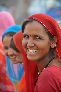 Hundreds of people either arriving or leaving Haridwar during Kumbh Mela.  Kumbh Mela is the biggest religious gatherings on the planet which takes places on the banks of the river Ganga. The number of pilgrims this year is expected to exceed around five million since the first day Jan 14 till the time it concludes on April 28, 2010. Haridwar, Uttarakhand. North India.