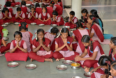 Lunch. Rising Star Outreach of India, Kancheepuram District, Tamil Nadu, India