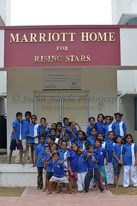 Evening play time outside the dorm (Marriot Home). Rising Star Outreach of India, Kancheepuram District, Tamil Nadu, India