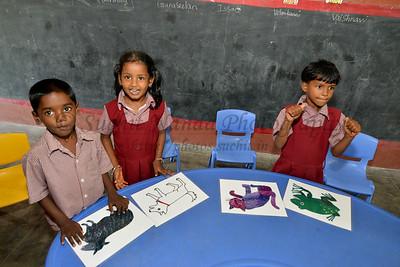 In class. Rising Star Outreach of India, Kancheepuram District, Tamil Nadu, India