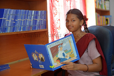 Library. Rising Star Outreach of India, Kancheepuram District, Tamil Nadu, India