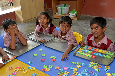 Classroom Rising Star Outreach of India, Kancheepuram District, Tamil Nadu, India