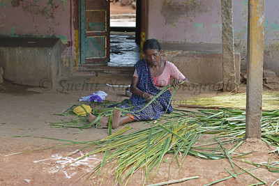 Lady in the village. Rising Star Outreach of India, Kancheepuram District, Tamil Nadu, India