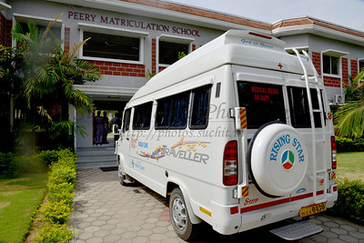 Mobile van. Rising Star Outreach of India, Kancheepuram District, Tamil Nadu, India