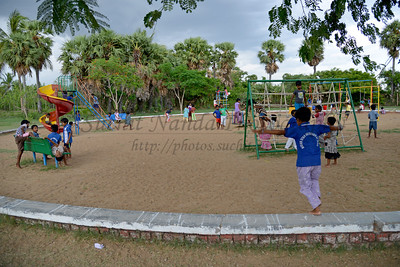 Evening playtime. Rising Star Outreach of India, Kancheepuram District, Tamil Nadu, India