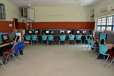 Computer lab. Rising Star Outreach of India, Kancheepuram District, Tamil Nadu, India