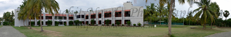 Panoramic image of the school. Rising Star Outreach of India, Kancheepuram District, Tamil Nadu, India