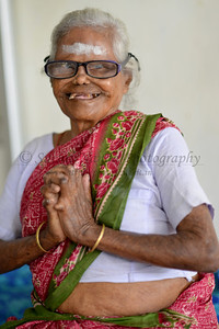 Portraits of the residents of the medical centre and old people home at the village.  Rising Star Outreach of India, Kancheepuram District, Tamil Nadu, India