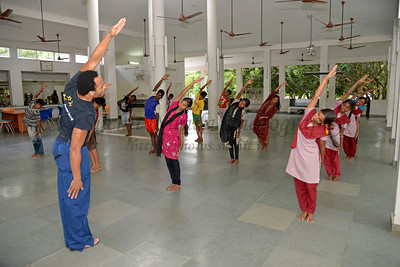 Learning dance.  Rising Star Outreach of India, Kancheepuram District, Tamil Nadu, India