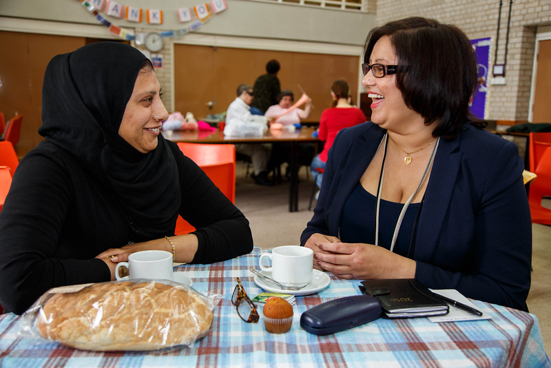 Mend-It Community Project - Visitors to the centre - L to R - Shameem Akhtar, Manjit Purewal