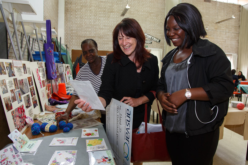 Mend-It Community Project - L to R - Pauline Cooper (Ansvar Insurance), Natalie Walker (Mend-It Committee Management Team)