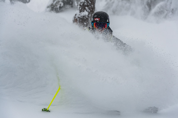 Tess Golling going for full coverage in the Mt Baker backcountry.