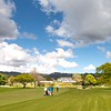 "View down the 18th fairway on Practice Day 1 of the Asia-Pacific Amateur Championship tournament 2017 held at Royal Wellington Golf Club, in Heretaunga, Upper Hutt, New Zealand from 26 - 29 October 2017. Copyright: Simon Woolf  2017.    <a href=""http://www.woolf.co.nz"">http://www.woolf.co.nz</a>"