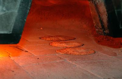 Shmura Matzah in the oven