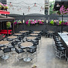 Outdoor patio at Crossing Tavern. Chicago, IL