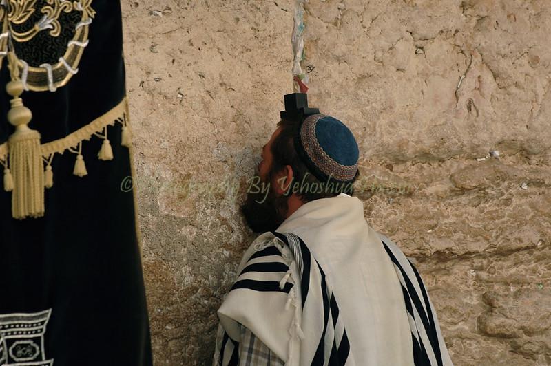 Prayer at Western Wall Kotel 422