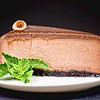 Gourmet Chocolate Cheesecake-<br /> 100% cocoa with a 64% dark chocolate genache on top from Callebaut - Belgium