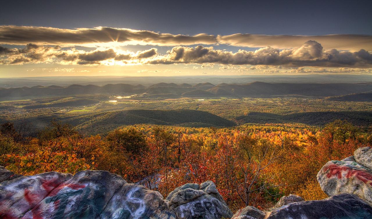 Dan's Rock Overlook outside of Frostburg Maryland