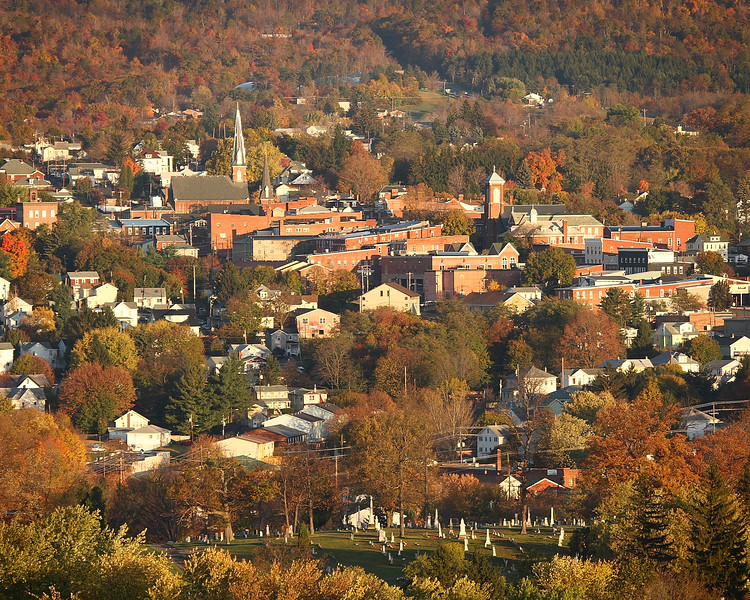 Early morning light in Frostburg, Maryland