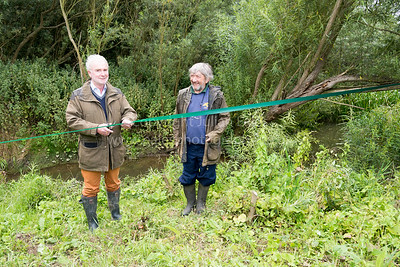 Opening of Restored River Meander, Comberton, Cambridge UK