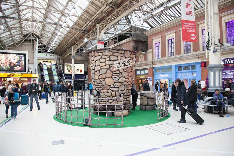 Good Dinosaur at Victoria Station