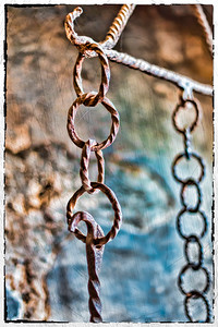 Chains inside the Chillon Castle