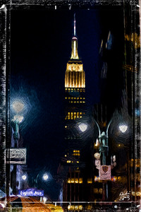 NYC- The Empire State Building seen from 8th Avenue