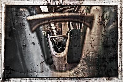 Peaking through Metro North seats