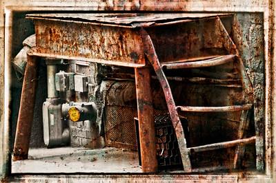 Rusted platform.