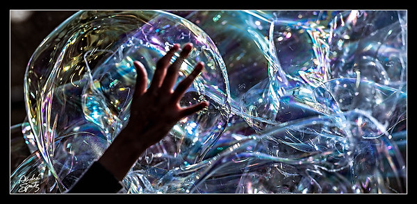 Abstract Soap Bubbles
