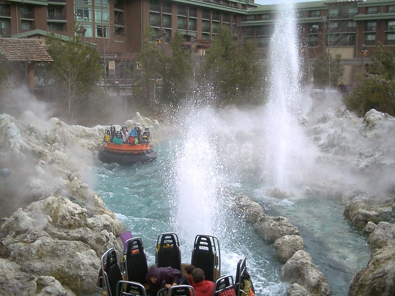 California Adventure Water Ride with Fog