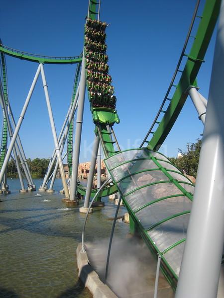 Roller Coaster Entering Fog