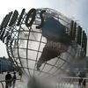 Universal Studios Globe with Fog