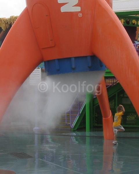 Fog Bursts from Rocket