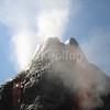 Fog Creates Smoke and Steam Effect for Volcano