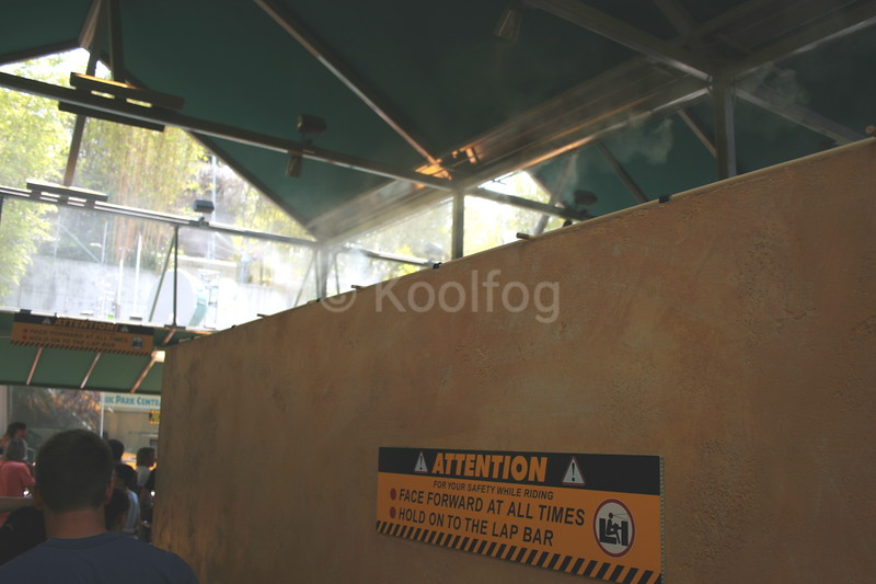 Misting Line on Queue Wall