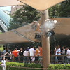 Mummy Queue Using Koolfog Misting Fans