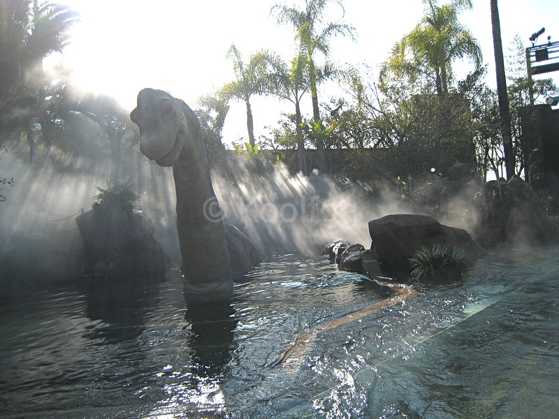 Fog Highlights Dinosaur