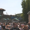 Waterworld Misting in Background of Crowds