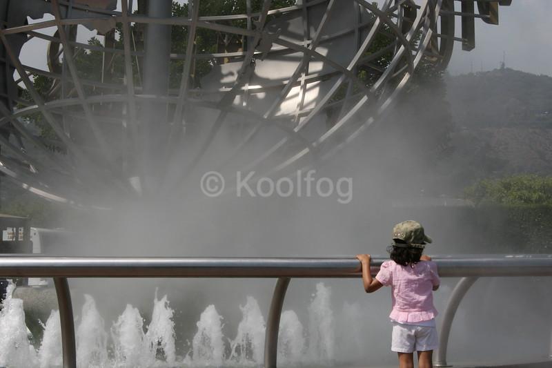 Fog Makes Ordinary Fountain Unique