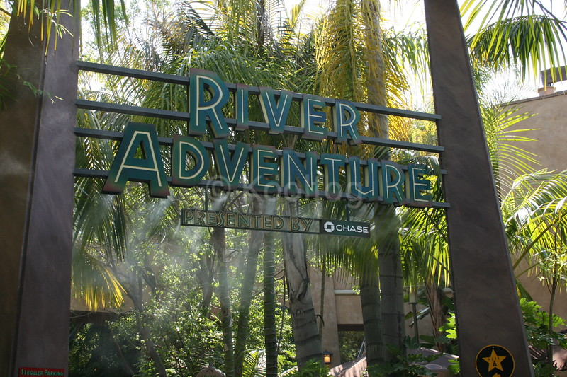 River Adventure Entryway Signage with Misting