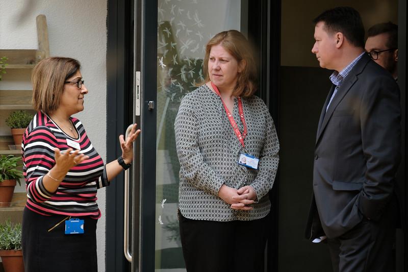 WHG Cheque presentation to Birmingham Children's Hospital - Pictured left to right,  Tasmin Butt (Family Liaison / Manager of Magnolia House), Eloise Davidson (Regional Fundraiser, BCH), Gary Fulford (Cheif Executive, WHG)
