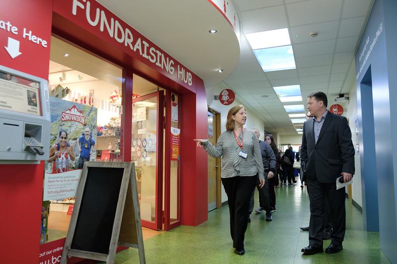 WHG Cheque presentation to Birmingham Children's Hospital - Pictured left to right,  Eloise Davidson (Regional Fundraiser, BCH), Gary Fulford (Cheif Executive, WHG)