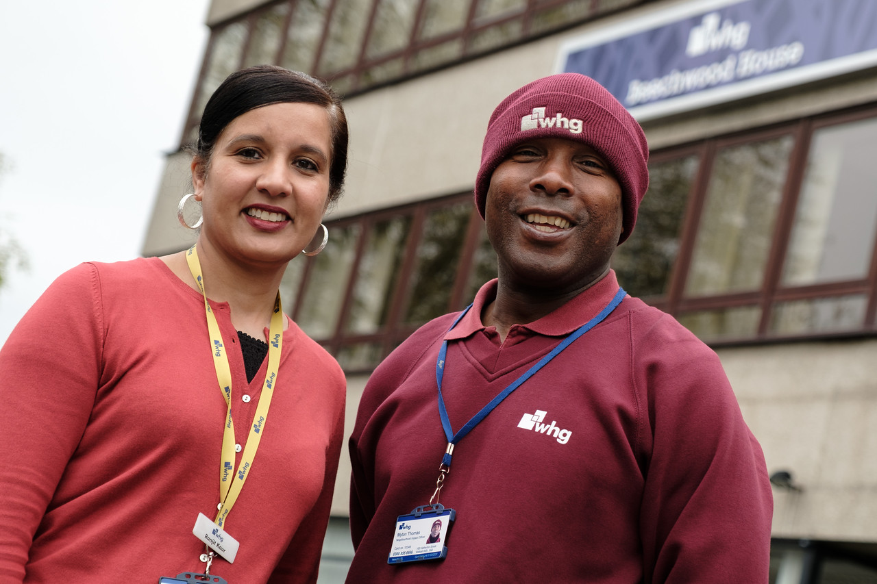 Left to right: Ranjit Kaur and Myton. Two WHG colleagues who came to the rescue of a missing elderly man, going above and beyond their duty as colleagues to get him back home safely.
