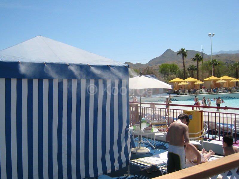 Cabana Equipped with Misting