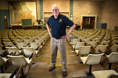 Longtime Agriculture Economics Professor Jan Dauve is retiring after more than 25 years with CAFNR. He is the director of undergraduate studies and adviser chair in the agricultural and applied economics department. For most of his teaching career Jan taught in the infamous Waters Auditorium.  Photo by Kyle Spradley | © 2014 - Curators of the University of Missouri