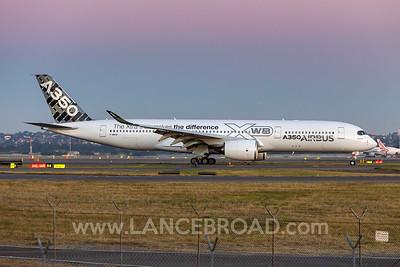 Airbus A350-900 - F-WWYB - SYD