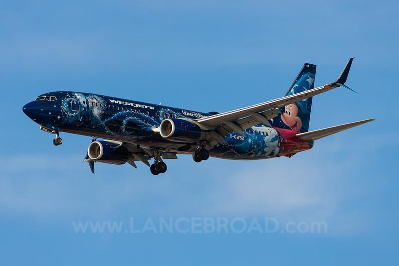 Westjet 737-800 - C-GWSZ - LAX