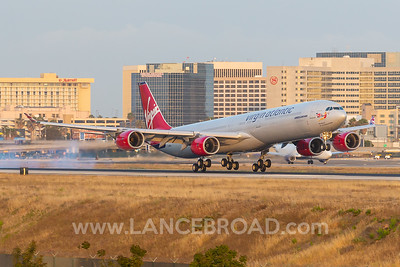 Virgin Atlantic A340-600 - G-VWKD - LAX