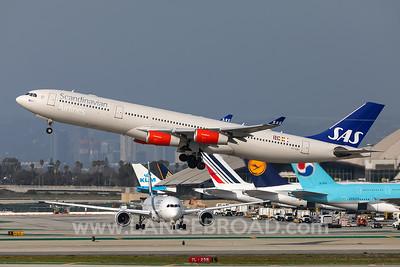 Scandinavian Airlines A340-300 - OY-KBD - LAX